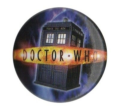 Doctor Dr Who Tardis Police Box 1 inch button pin badge Official