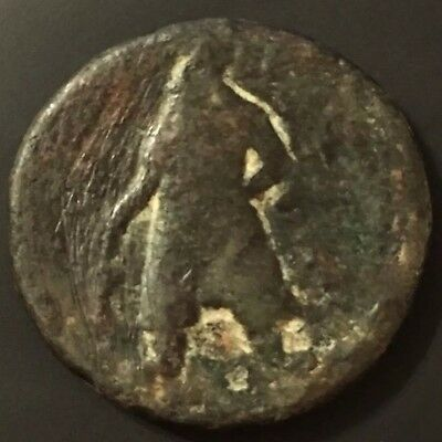 100-128 AD Vima Kadphises, Kushan Empire - One Tetradrachm, Ancient Copper Coin.
