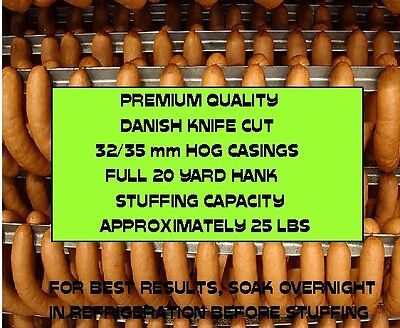 Natural Danish Hog Casings for Sausage (Knife Cut) Worlds Best) 32/35