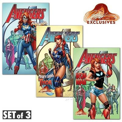 The Avengers #8 J Scott Campbell Store Exclusive Set of 3 PRE-ORDER