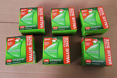 1260 pieces value size Nicorette 4mg Fresh fruit gum New *exp: 2020*