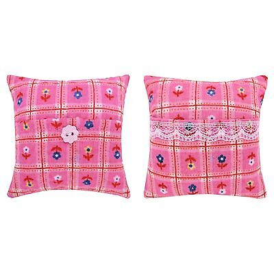 Tooth Fairy Pillow, light pink, small flower print, choice of trim for girls