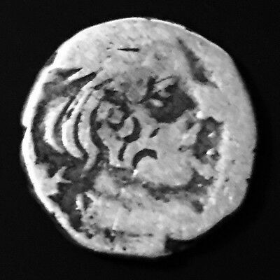 278-295 Ksahtrap Dynasty,King Bhartrdāman,Ancient Silver One Drachm Coin,India.