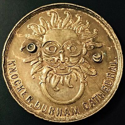 Knocker Durham Cathedral, Made In England, Extremely Rare Coin, Unknown Date.