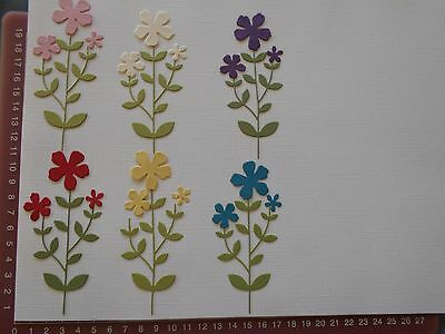 Die cuts - Flowers and Stems - Embellishments - Mixed Colours