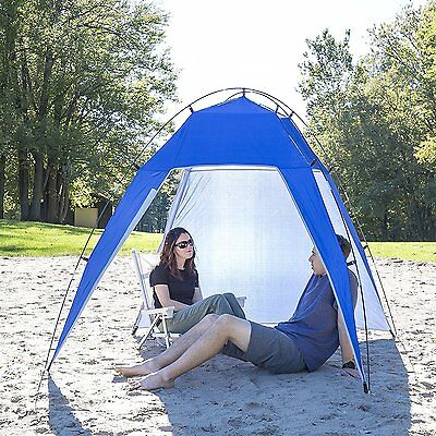 Beach Tent Shelter Large Sun Shade Canopy 7X7 Camping Screen House Outdoor Patio