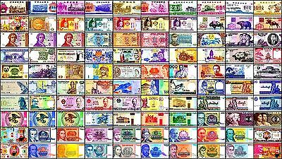 100 Different Types World Notes, Paper Money, HYPERINFLATION Notes, Currency