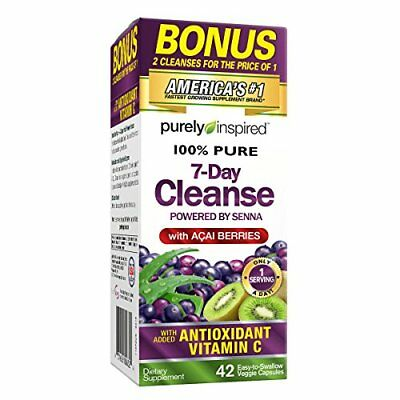 7-Day Cleanse, Weight Loss Supplement/ Antioxidant Vitamin C (42 Tablets)