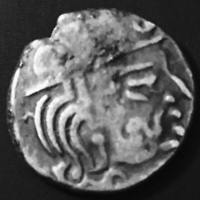470-788 Maitrakas Dynasty,King Valabhi,Ancient One Drachm, Silver Coin,India