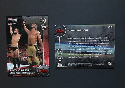 Finn Balor Returns Teaming With Seth Rollins Raw WWE Topps Now 2017 Card #81