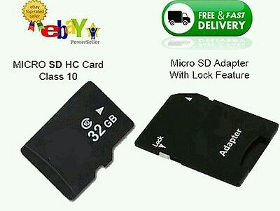 32GB Micro SD Memory Card Class 10 Smart Phones, Tablets & FREE ADAPTE