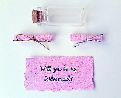 Bridesmaid Proposal - Message In A Bottle - Bridal Party Gift - Wedding Party