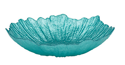 New Selma Bowl 22cm Blue Coloured Glass Decorative Use Only Bowl