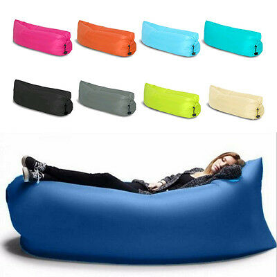 Sports Inflatable Sofa Air Bed Lounger Chair Sleeping Bag Mattress Seat New UK