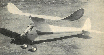 "Model Airplane Plans (FF): SMOKY 55""ws Old Timer by Paul Plecan (1946)"