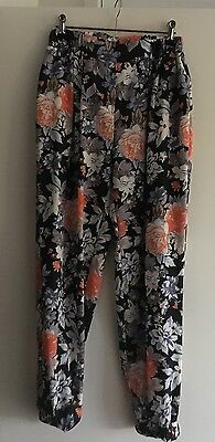 NANA FOR YOU Floral Print Pants Womens - Size - 12 - As New!!!