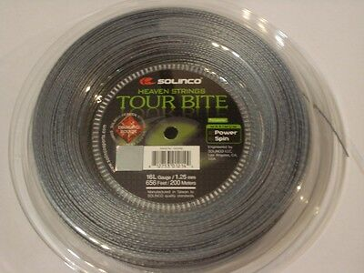 Solinco Tour Bite Diamond Rough 200m Reel 16L/1.25mm Tennis String