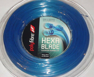 Polyfibre Hexablade 200m Reel 1.20mm Tennis String