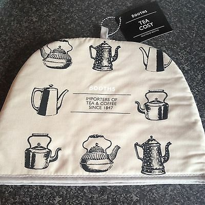 + Tea Cosy 100% Cotton Booths Teapot Design Afternoon Tea House Warming  Present