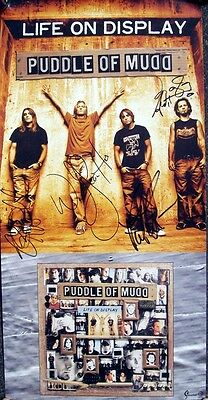 Puddle Of Mudd (Wes Scantlin) + autograph,  hand signed poster