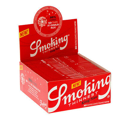 Cartine SMOKING LUNGHE THINNEST Sottili Naturali King Size 1 BOX