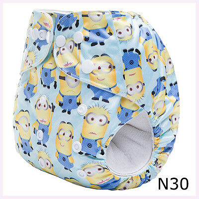 MINIONS Baby Cloth Nappies Diapers - Washable Reusable Adjustable with insert