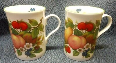 2 Pcs, Crown Trent Harvest Coffee Mugs, Staffordshire England