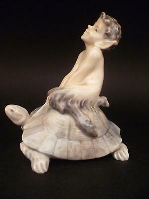 ROYAL COPENHAGEN  A  FAUN PAN ON TORTOISE WITH ROPE MODEL No 858 by CH THOMSEN