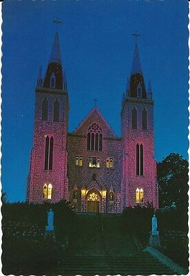 """Vintage collectible 4"""" x 6"""" POSTCARD national shrine North American Martyrs Ont"""