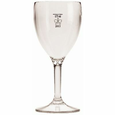 BBP Polycarbonate Wine Glasses 9oz / 255ml CE Marked at 175ml Pack Quantity - 12