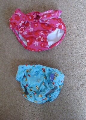 Reusable Swim Nappies Pink Girl Age 9-12 Months or Blue Boy Age 6-9 Months