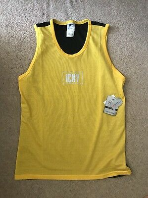 Mens Yellow/Black ICNY Reflective Mesh Vest - SIZE XL