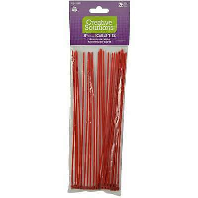 """Cable Ties 8"""" 25/Pkg Red 032076925352"""