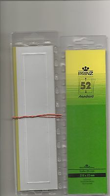 PRINZ STAMP MOUNTS CLEAR 52 mm STRIPS x25 IN PACK