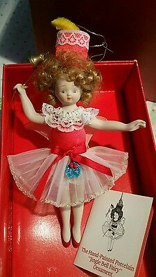 THE CHRISTMAS ORNAMENT COLLECTORS CLUB PORCELAIN Jingle Bell FAIRY ORNAMENT