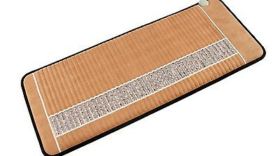 """Amethyst Crystal Far Infrared Negative Ion Heat Therapy Mat (59""""L x 24""""W)"""