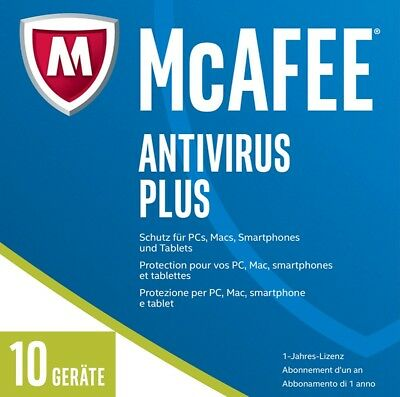 McAfee AntiVirus Plus 2017 - 10 Geräte - 1 Jahr -  Deutsch - Download / KEY