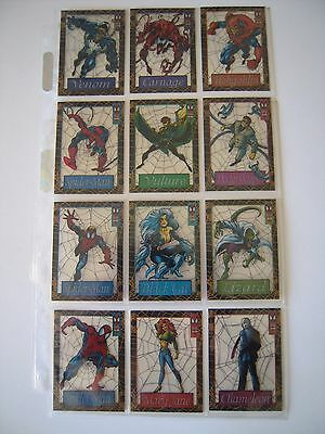 The Amazing Spiderman  Set  Complet De 12 Plasticards   Cards  Rare 1994 Tbe