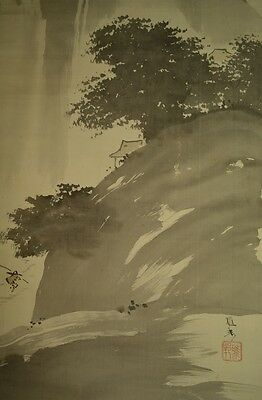 Hanging Scroll Japanese Landscape Painting 雅邦 橋本 Asian art ink Japan Picture r70
