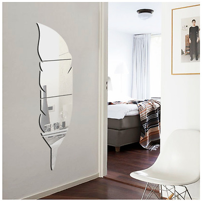 Removable Home Mirror Wall Stickers Decal Art Vinyl Room Decor DIY
