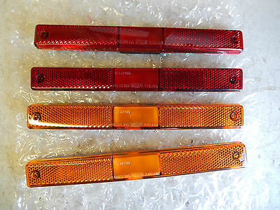 DeLorean DMC12 Wipac Side Marker Lights (NOS) Full Set 4 Never Used. Red/Amber