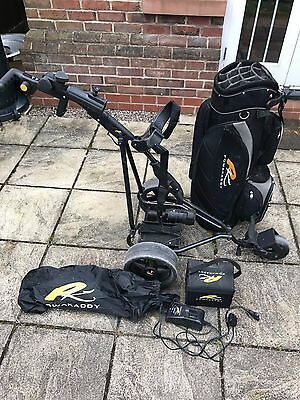 Powakaddy  Electric Golf Trolley with battery, charger and golf bag