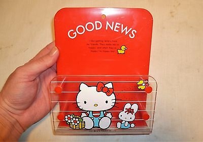 Vintage 1976 Hello Kitty Good News Letter Holder