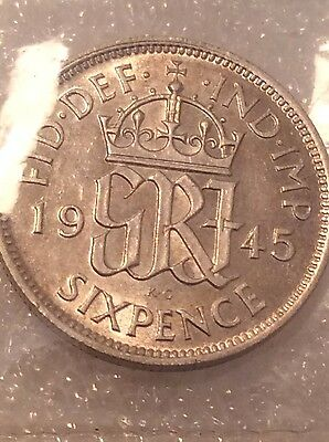 George V1 1945 Sixpence Unc