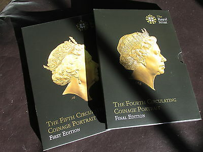 2015 UK Fourth and Fifth portrait coin sets in one boxset.includes rare coins!!