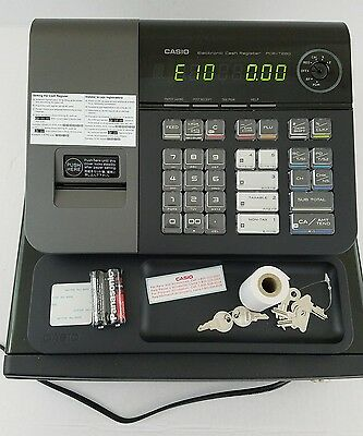 Casio PCR-T280 Electronic Cash Register Drawer Quick start w/ 4 Tax Tables