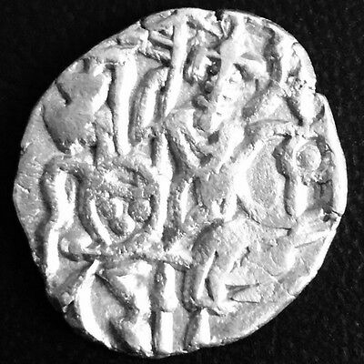 890-895 Bull & Horseman,Samantadeva,One Jital,Ancient Silver Coin,Northern India