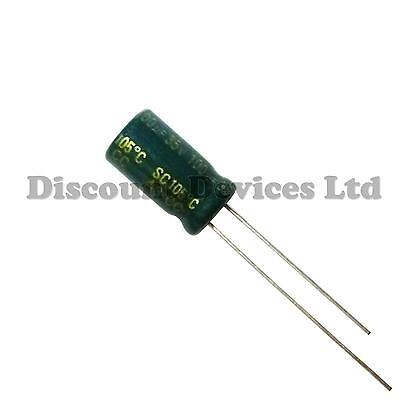 100uF 35V Electrolytic Capacitor 105°C  Low ESR And Impedance