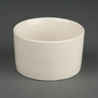 Olympia Ivory Contemporary Ramekins Made of Porcelain - 80mm Pack of 12