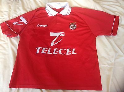 Genuine Vintage Benfica Home Short Sleeved shirt Jersey Large 1990's Olympic